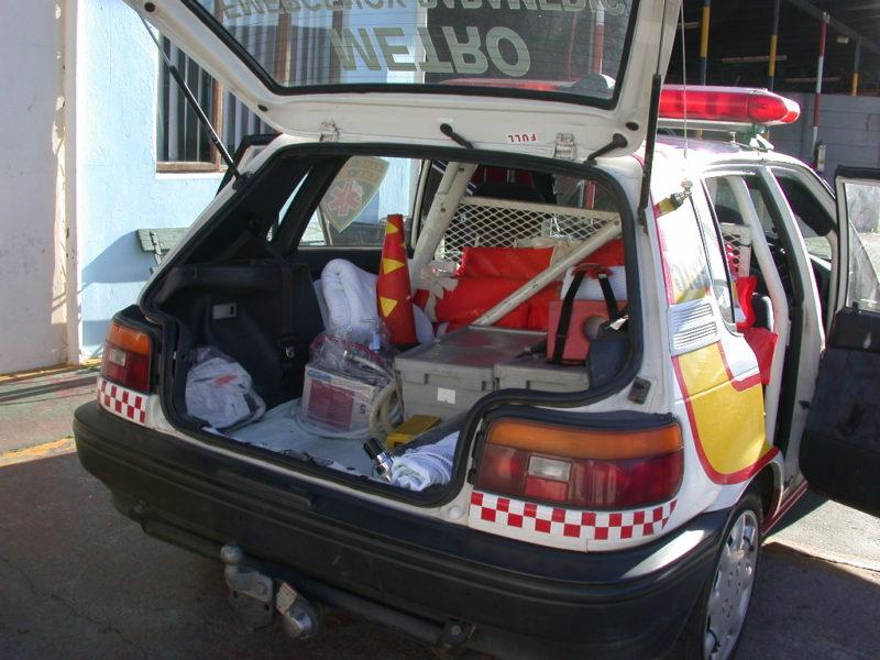 Paramedic Fahrzeug mit Material