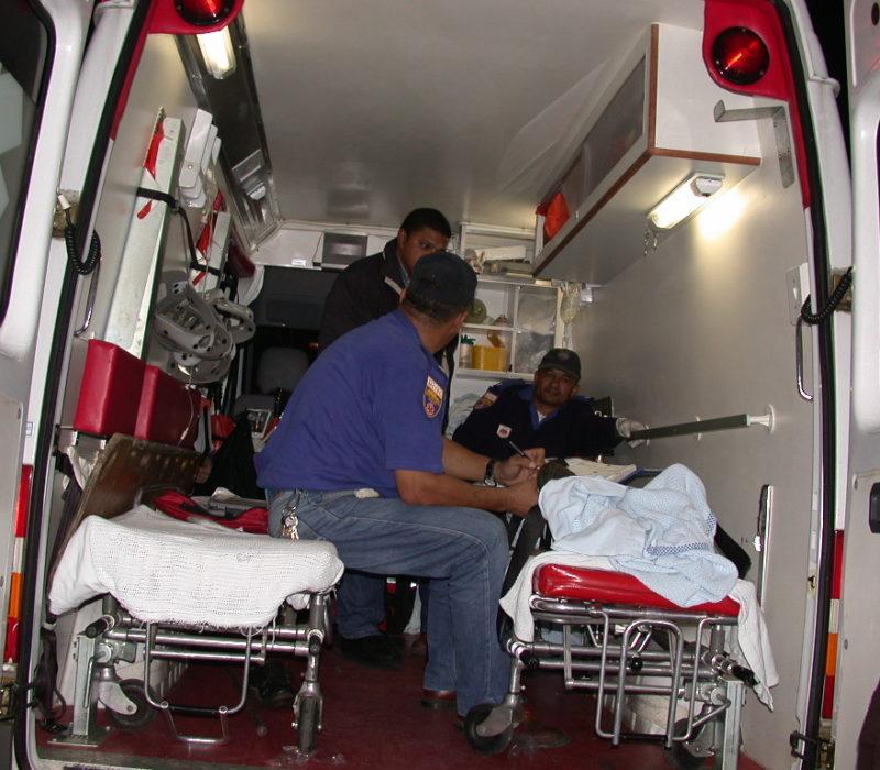 Behandlung des Patienten im RTW