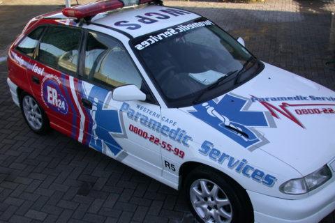 Paramedic-Fahrzeug des privaten Ambulanz-Service
