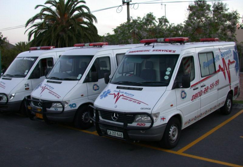 Wagenpark des privaten Ambulanz-Service