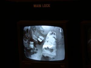 Überwachungsbild aus der Druckkammer