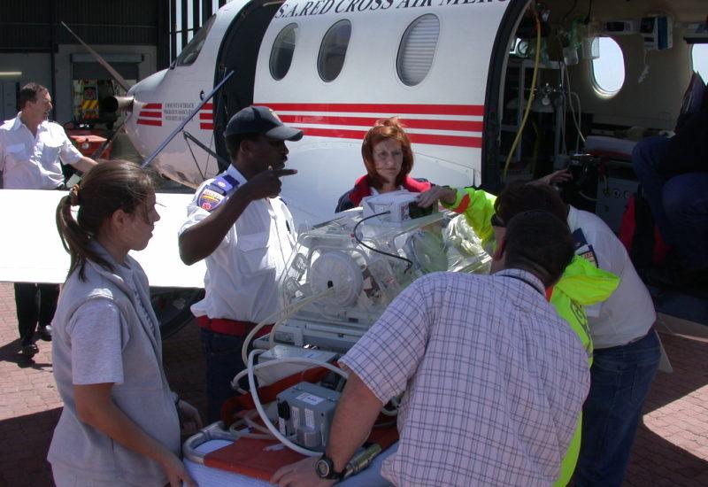 Beladen des Flugzeuges